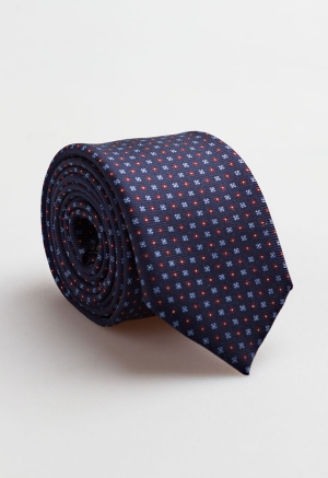 Corbata Estampada Azul...