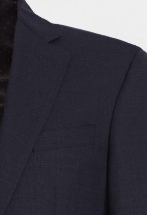 Traje Textura Cole Azul oscuro